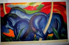 """""""Blue Horses"""" by Franz Marc Lithograph 1937"""