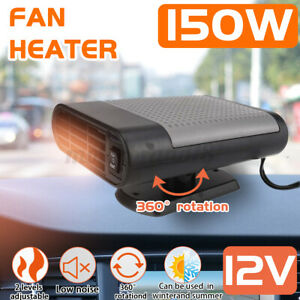 360° Rotation 150W Car Heater Heating Cooling Fan Defroster Demister  NEW
