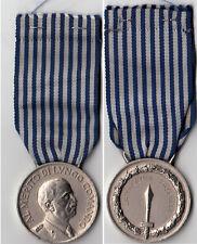 Medaglia al Merito LUNGO COMANDO ARGENTO Nastrino originale  Nominativo inciso