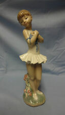 "Rare Large 12"" Attractive Lladro Spain Nao Figure - Young Standing Ballerina"