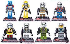 Transformer Optimus Prime Bubblebee Galvatron 8 Mini Figures Toy Fits with Lego
