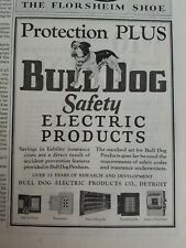 1928 Bulldog safety electric products Protection Plus vintage original ad