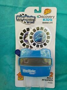 Discovery Kids MARINE LIFE View-Master SET Viewer + 2 3D Reels Fish Shark NEW