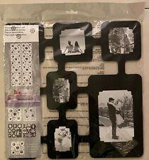 Panneau décoratif 8 photos - noir - NEUF