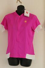Castelli Fortuna  Womens Cycling Jersey 3/4 zip size XL BNWT Pink