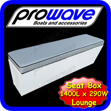 Boat rear lounge or seat box 1400L x 290W x 365H - Grey