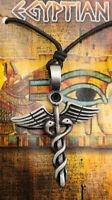 Caduceo-Joyería Collar Egipcio Colgante de Estaño Egipto Antigua 6759 CA1