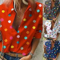 P/D: Damen Hemd Chiffon Shirts Tops Bluse Locker Hemdbluse Damenbluse Oberteil