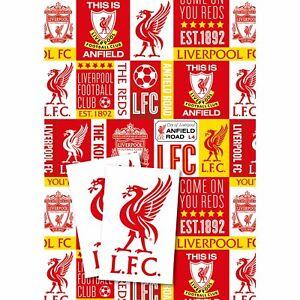 Liverpool Football Club Gift Wrap 2 Sheets & Tags