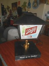 Vintage 1958 Schlitz Lighted Beer Sign Street Lamp Light