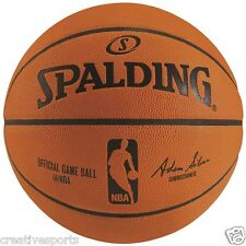 SPALDING NBA OFFICIAL SIZE LEATHER GAME BASKETBALL ** NEW IN BOX - SALE!!