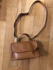 Etro Milano Bag Purse Tan Light Brown Handbag Gold Mini Flap Shoulder Leather