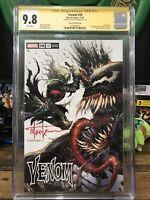 Venom 28 Secret Variant Cgc 9.8 Signed Tyler Kirkham