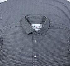 Mizzen + Main Spinnaker Gray White Gingham Plaid Button Shirt Mens Sz M Trim Fit