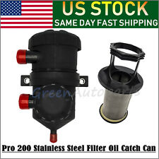 Pro 200 Vent Oil Separator Catch Can Filter For Hilux Turbo 4WDs 3931070550