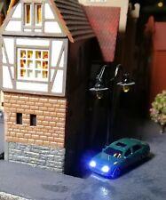 5 PKW mit weissem Frontlicht- und rotem Rücklicht, Spur N, LED beleuchtet