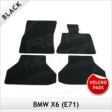 BMW X6 E71 2008-2014 Velcro Pads Tailored Fitted Carpet Car Floor Mats BLACK