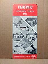 1968 Continental Trailways Vintage Travel Brochure Bus Tours Around East Coast