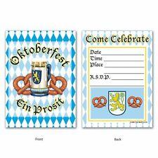 Oktoberfest Paper Party Invitations x 8