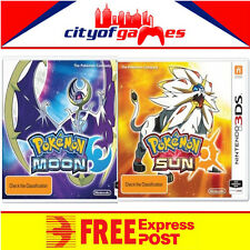 Pokemon Moon & Sun Bundle 3DS  New & Sealed Free Express Post In Stock
