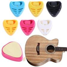 Portable Plastic Heart Shape Guitar Pick Plectrum Holder Case With adhesive tape