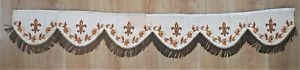 Antique Religious Pelment Fleur de Lys Bullion Fringes #2