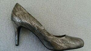 linea Woman's Bronze Snake Skin Style Stiletto High Heel Shoes Size 39 eu - 6 uk