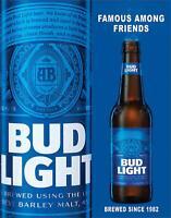 "Bud Light - Famous Among Friends Tin Sign, 13"" W x 16"" H"