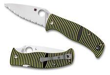 Spyderco Caribbean Leaf Serrated Edge Knife - C217GS