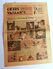 COEURS VAILLANTS 1936 n°50 - Hergé Le rayon du mystère + Lotus Bleu