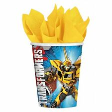 8 Transformers Optimus Prime Bubble Bee Childrens Birthday Party 9oz Paper Cups