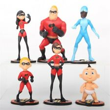 The Incredibles Dash Violet Disney Playset 6 Figure Cake Topper Toy Doll Set