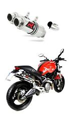 Uitlaat muffler exhaust DOMINATOR GP I DUCATI MONSTER 696 08-14 + db killer