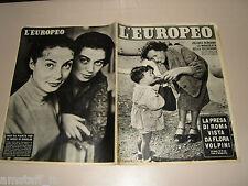 EUROPEO=1954/23=ANNA MARIA PIERANGELI=MARISA PAVAN=AVENZA=FRANCA VALERI=MONTESI