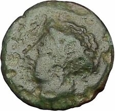 Larissa in Thessaly 360Bc Nymph Horse Authentic Ancient Greek Coin i51725