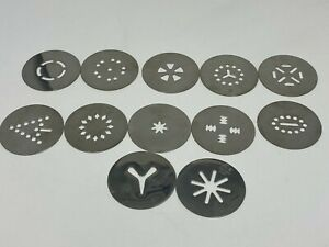 Cuisinart CCP-10 Electric Cookie Press Replacement Part Set Of Cookie Discs
