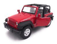 Jeep Wrangler Rubicon Modellauto Auto LIZENZPRODUKT 1:34-1:39 Versch. Farben