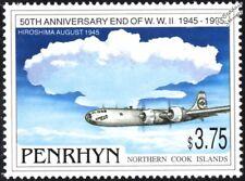 La seconde guerre mondiale 1945 B-29 ENOLA GAY avion Gouttes bombe sur Hiroshima STAMP (1995 Penrhyn)