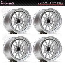 Ultralite UL12 Deep Dish Light Alloy Wheels 15x8.25 ET20 4x100 4x108 Silver JDM