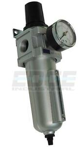 "INDUSTRIAL GRADE FILTER REGULATOR COMBO FOR AIR COMPRESSOR, AUTO DRAIN, 3/4"" NPT"