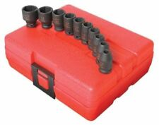 "Sunex 10pc 1/4"" SAE 6pt Point Impact Sockets Set Shallow Drive INCH Tools 1810"