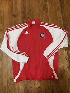 EUC Chicago Fire Futbol Soccer Club Authentic Adidas Vintage Predator Jacket