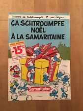 Peyo - Les Schtroumpfs - Noël à la Samaritaine - 1983 - TBE/NEUF