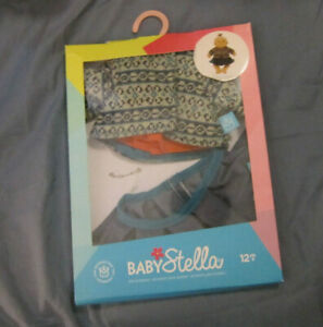 Cozy Chic doll clothes The Manhattan Toy Company BABY STELLA Nordic sweater set