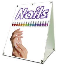 Nails Sidewalk A Frame 18x24 Outdoor Vinyl Retail Sign Salon