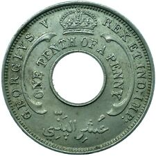 More details for coin / british west africa / 1/10 penny 1936 unc  #wt24366