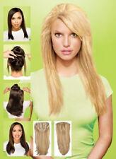 Long Thick Guleless Straight 100% Real Human Hair Half  Wigs Machine Weft Cap
