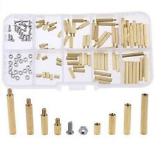 120pcs M2 Brass Standoff Circuit Board PCB Nut Spacer Screw Assortment Kit New
