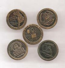 LOT 5 Pin's pin BRIQUET ZIPPO  ( ref 002 )