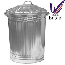 90 LITRE GALVANISED WASTE BIN GARDEN RUBBISH DUSTBIN STORAGE UNIT HOME STRONG